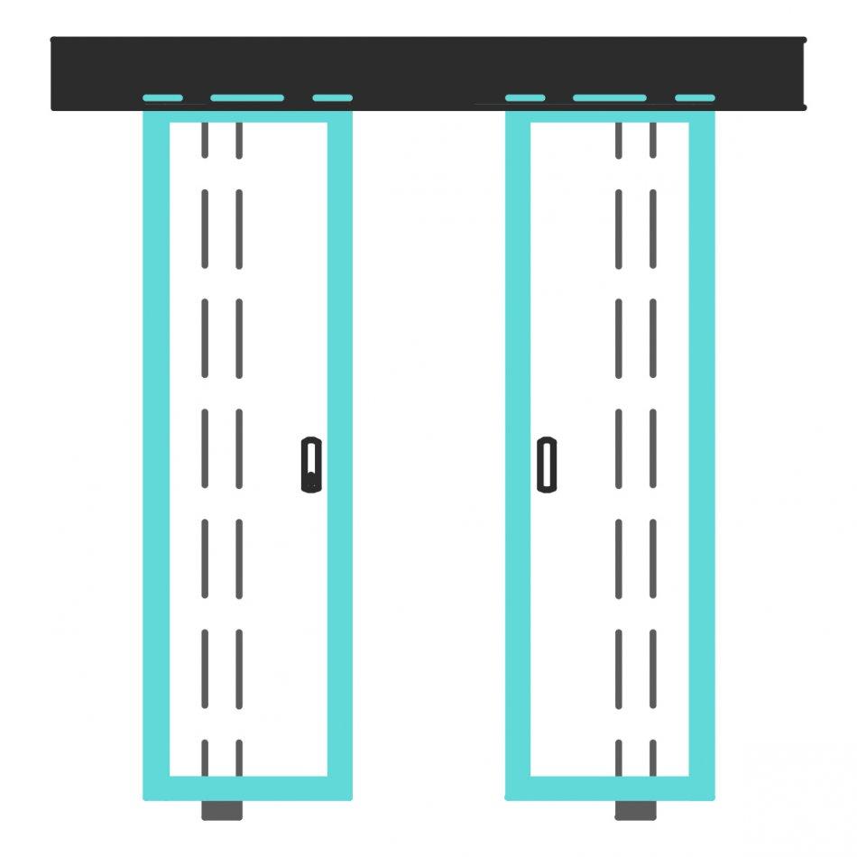 Telai per porte scorrevoli di Nordform